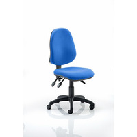 Image of Eclipse 3 Lever Task Operator Chair Blue fabric