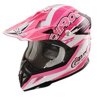 Image of Chaos Kids Motocross Crash Helmet Pink