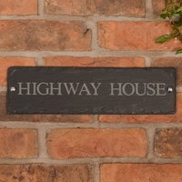Rustic Slate House Sign - 1 line 35.5 x 10cm
