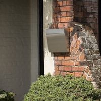 Stainless steel Calder mailbox offers excellent weather resistancy and
