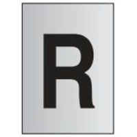 Metal Effect PVC Letter R