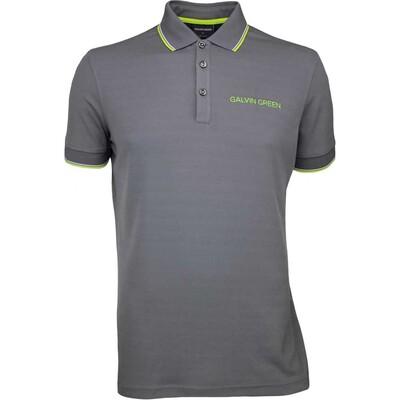 Galvin Green Golf Shirt MILLER Tour Ventil8 Iron Grey SS17