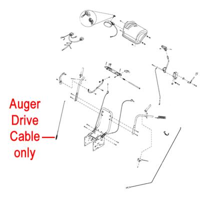 Stiga Stiga 1812-2542-01 Drive Cable for the Stiga Snow Flake, Snow Fox and Snow Blizzard