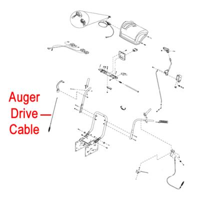 Stiga Stiga 1812-2183-01 Drive Cable Auger for Stiga Pro 1171 and 1381 HST