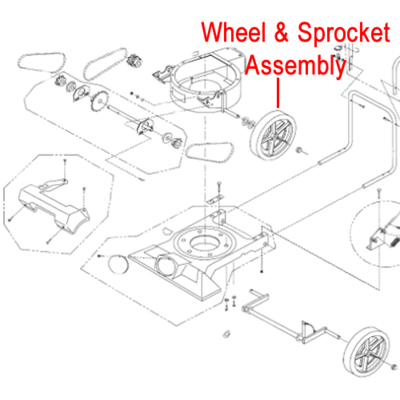 Billy Goat Billy Goat Wheel & Sprocket Assembly 26T 890242-S