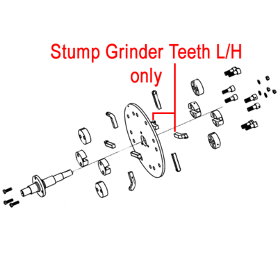 Weibang Weibang Stump Grinder Teeth Left Hand DSZ0000091/04