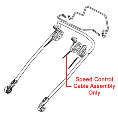 AL-KO AL-KO Speed Control Cable Assembly 470152