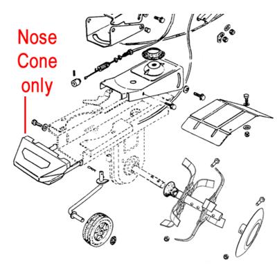 AL-KO AL-KO Cultivator Nose Cone Plastic Cover P109260005215