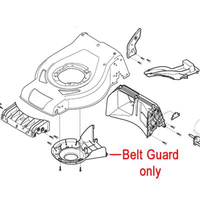Mountfield Mountfield Belt Protection Guard CR53 322060250/0
