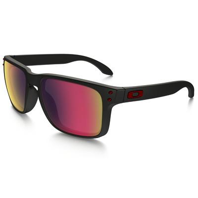 Oakley Golf Sunglasses Holbrook Matte Black Red Iridium 2017