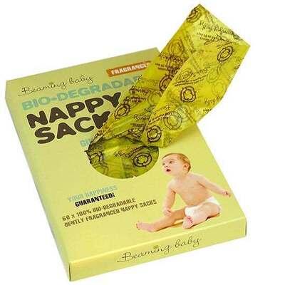 Beaming Baby Fragranced Bio-Degradable Nappy 60 Sacks