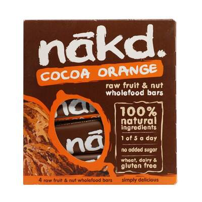 Nakd Cocoa Orange Bar 35g Pack of 4