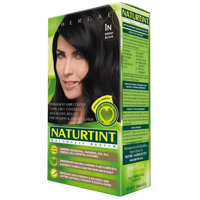 Naturtint Permanent Natural Hair Colour 1N Ebony Black 165ml