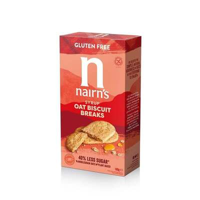 Nairn's Gluten Free Oat & Syrup Biscuit Breaks 160g