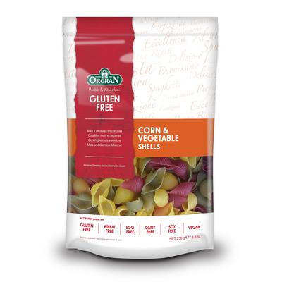 Orgran Gluten Free Corn & Vegetable Pasta Shells 250g
