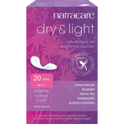 Natracare Dry & Light Incontinence Pads Slim - Pack of 20