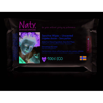 Naty by Nature Unscented Sensitive Baby Wipes