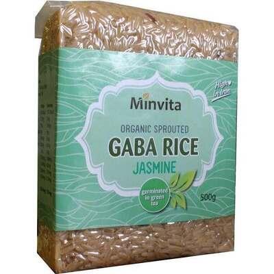 Minvita Organic Jasmine Green Tea Gaba Rice 500g