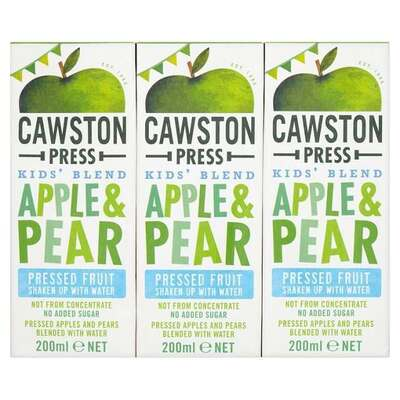 Cawston Press Kids Blend Apple & Pear 3 x 200ml