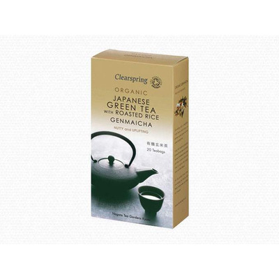 Clearspring Organic Genmaicha Green Tea With Roasted Rice 20 Tea Bags