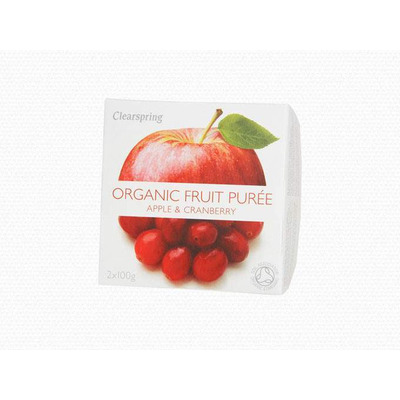 Clearspring Organic Apple & Cranberry Fruit Purée 200g