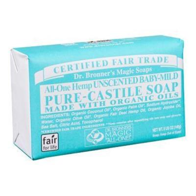 Dr Bronner's Organic Baby Mild Soap Bar 140g