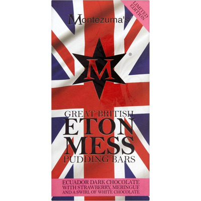 Montezumas Great British Pudding Eton Mess Bar 100g
