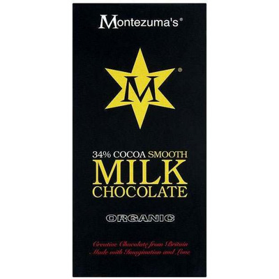 Montezuma's Organic 34% Cocoa Smooth Milk Chocolate Bar 100g