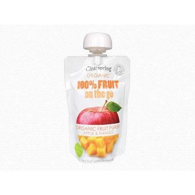 Clearspring Organic 100% Fruit On The Go Puree - Apple & Mango 100g
