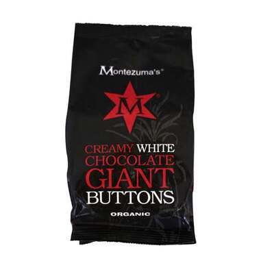 Montezuma's Organic Creamy White Chocolate Giant Buttons 180g
