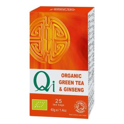 Qi Organic Green Tea & Ginseng 25 Bags