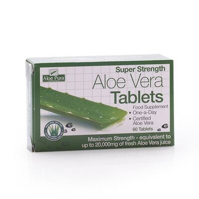 Aloe Pura Super Strength Aloe Vera 60 Tablets