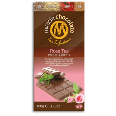 Miracle Matcha Rose Tea Milk Chocolate 100g