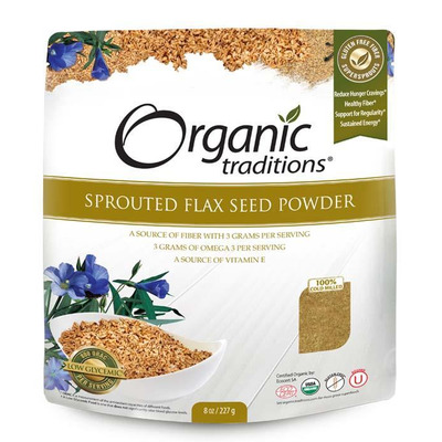 Organic Traditions Sprouted Flax Powder 200g