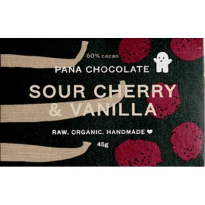 Pana Chocolate Raw Organic Sour Cherry & Vanilla Chocolate 45g