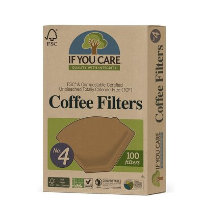 If You Care No. 4 Certified Compostable Coffee Filters 100 Pack