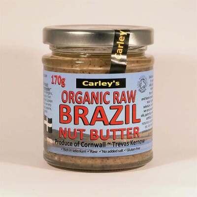 Carley's Organic Raw Brazil Nut Butter 170g