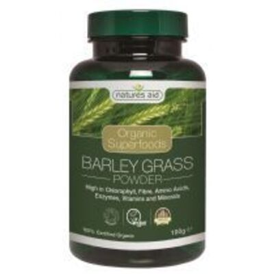 Natures Aid Organic Barley Grass Powder 100g