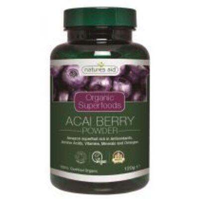 Natures Aid Organic Acai Berry Powder 120g