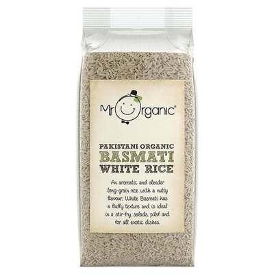 Mr Organic Pakistani Basmati White Rice 500g