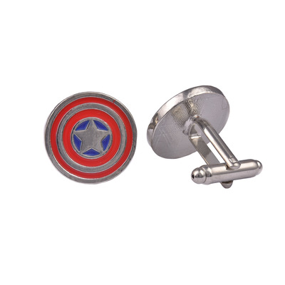Captain America Metal Shield Cufflinks