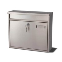 Ouse Stainless Steel postbox can fix together to form a bank of
