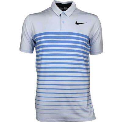 Nike Golf Shirt NK Dry Stripe Hydrogen Blue AW17