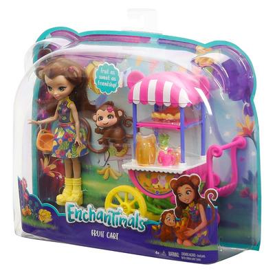 Enchantimals Fruit Cart Stand Doll Set