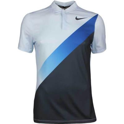Nike Golf Shirt NK Dry Graphic Blade Hydrogen Blue AW17