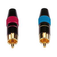 RCA Phono Plug Metal - Blue