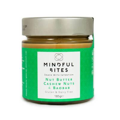 Mindful Bites Gluten Free Nut Butter Cashew & Baobab 185g