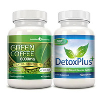 Image of Green Coffee Bean Extract 6000mg Detox Combo Pack - 1 Month Supply