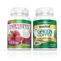 Image of Raspberry Ketone Pure 600mg & Svetol Green Coffee Combo Pack - 1 Month Supply