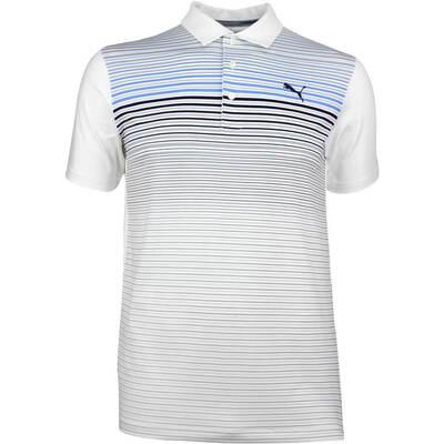 Puma Golf Shirt Highlight Stripe Marina SS18